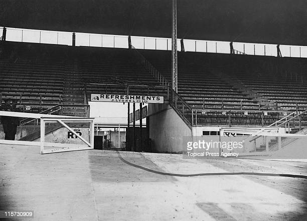 The entrance to the White City Stadium, through which the marathon runners will enter before their final lap, during the 1908 Summer Olympics in...