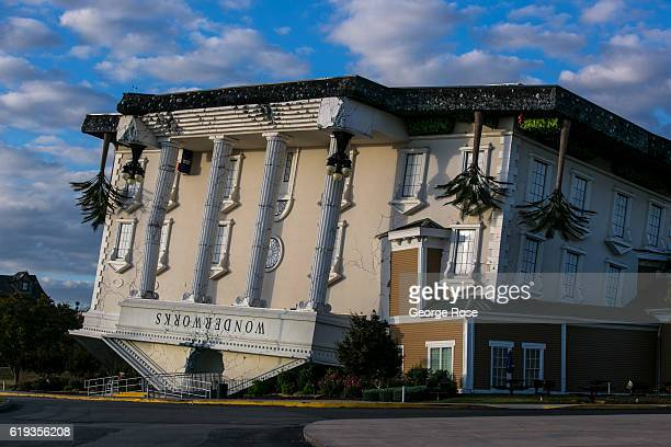 The entrance to The WonderWorks located on the Parkway across from the Hatfields McCoys Dinner Show theater is viewed on October 18 2016 in Pigeon...