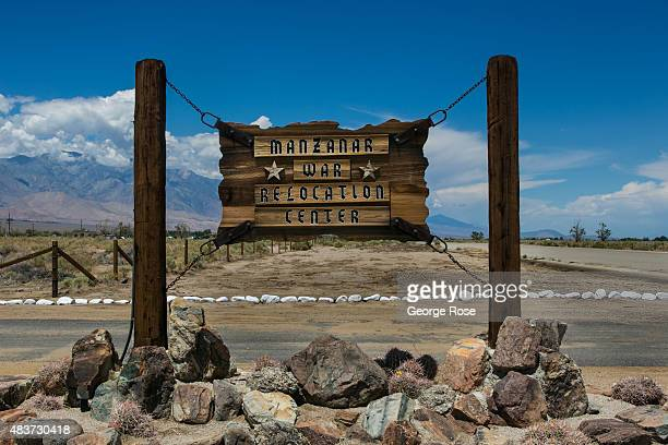 The entrance to the World War II Japanese Internment Camp at Manzanar is viewed on July 21 near Independence California The arid Owens Valley located...