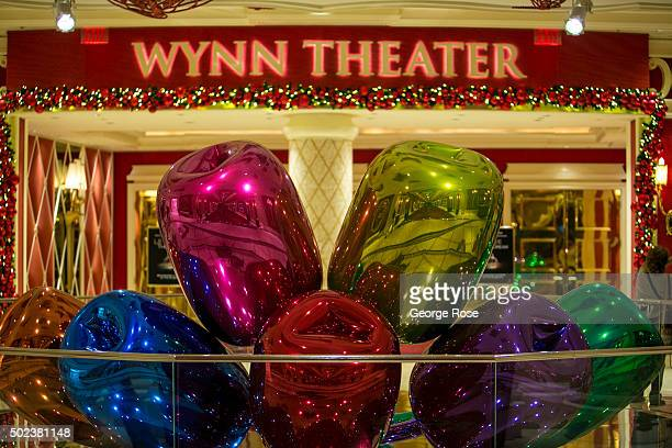 """The entrance to the Wynn Theater at the Wynn Hotel & Casino is viewed on December 7, 2015 in Las Vegas, Nevada. Tourism in America's """"Sin City"""" has,..."""