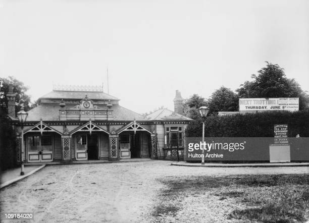 The entrance to Wembley Park and Tower in northwest London 1905