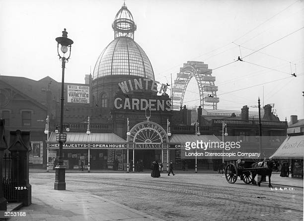 The entrance to Winter Gardens pavilion in Blackpool