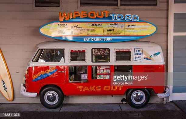 The entrance to Wipeout To Go taco stand at Pier 39 is viewed on April 15 in San Francisco California Some 136 million international travelers visit...