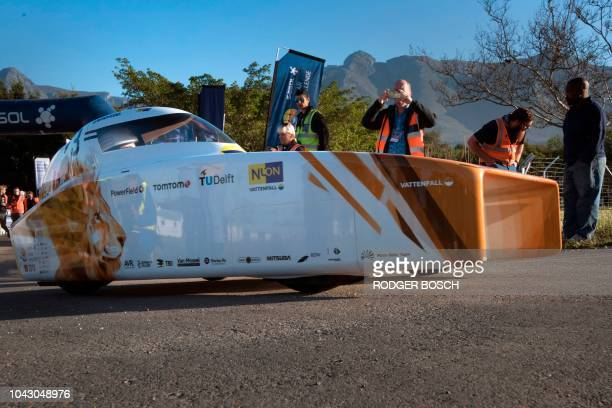 The entrant from the Dutch Nuon team starts the 8th and the final day of the Sasol Solar Challenge on September 29 in Swellendam The eightday race...