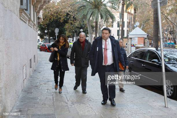 The entrepreneur Gerardo Díaz Ferran arrives at the National Audience to attend the 'Mar Blau' case hearing on January 9 2019 in Palma de Mallorca...