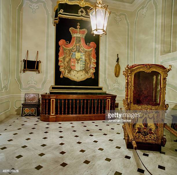 The entry hall to Prince Jonathan Doria Pamphilj private quarters is photographed for Vanity Fair Magazine on April 26 2011 in the Palazzo Doria...