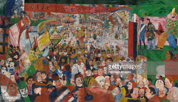 The Entry of Christ into Brussels in 1889 1888 Found in the Collection of J Paul Getty Museum Los Angeles Artist Ensor James