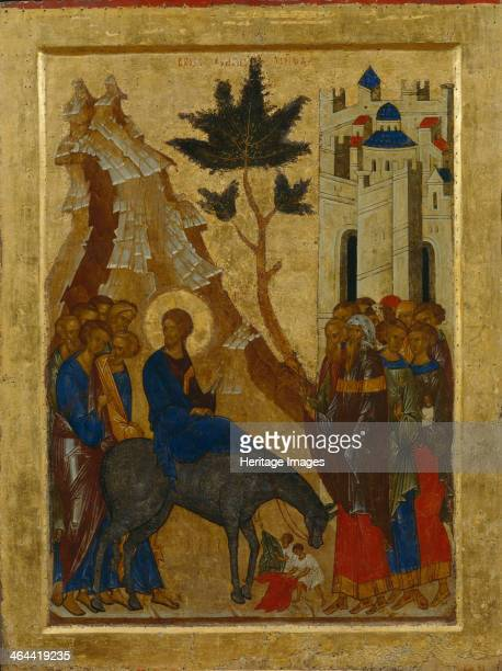 The Entry of Christ into Jerusalem 1497 Found in the collection of the State Openair Museum KirilloBelozersky Monastery