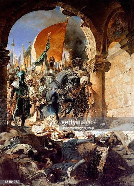 The Entry of Mahomet II into Constantinople painted in 1876 by the French artist Benjamin Constant Mehmet II 14321481 Sultan of the Ottoman Empire...