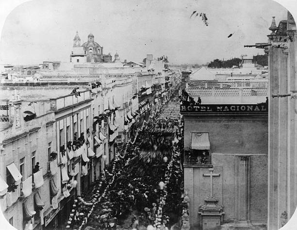 The entry of Mexican President Benito Juarez into Mexico...