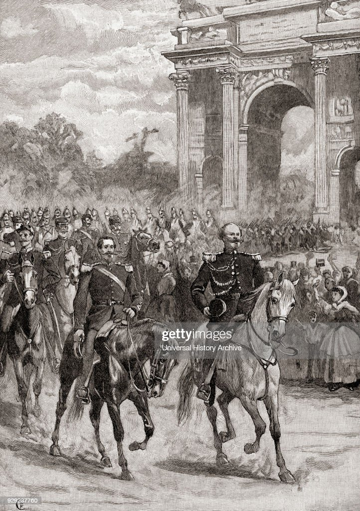 the entry of napoleon iii right 1808 1873 and victor emmanuel ii
