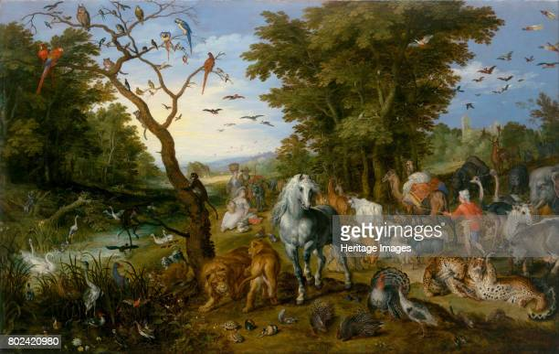 The Entry of the Animals into Noah's Ark 1613 Found in the collection of J Paul Getty Museum Los Angeles