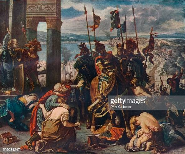 The Entry Of The Crusaders Into Constantinople, 1840. This