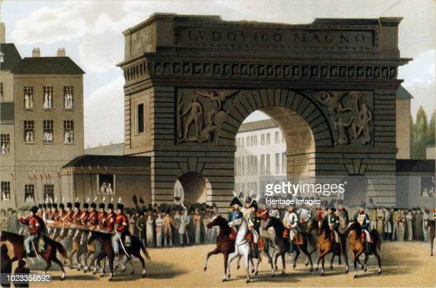 The Entry of the Emperor Alexander I into Paris 1897 Private Collection