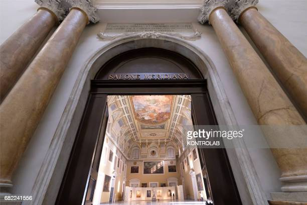 The entry of the Meridiana Room at National Archaeological Museum in Naples