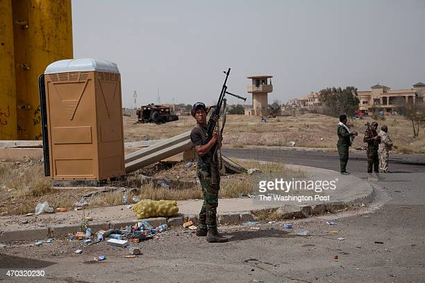 TIKRIT IRAQ APRIL The entry of the presidential compound of Saddam Hussein in Tikrit Iraq April 10 2015