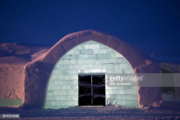 The entry to the Ice Hotel lobby is photographed in Jukkasj��rvi December 19 2011