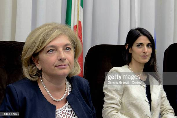 The environment councilor Paola Muraro and the mayor of Rome Virginia Raggi heard by the Environmental Parliamentary Commission against Ecomafie on...