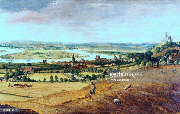 'The Environs of London from Greenwich' c16201630 From the Museum of London