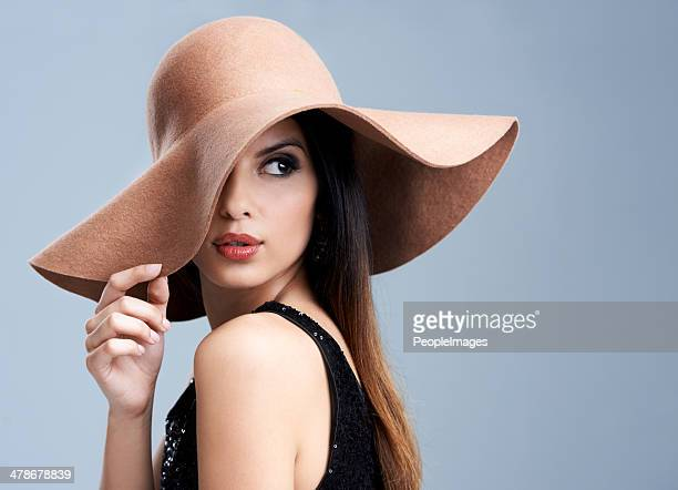 the epitome of gorgeous elegance - hat stock pictures, royalty-free photos & images