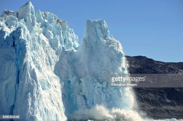 The Eqi glacier is one of the best places to see a glacier calving You can get very close to the glacier hearing the bubbles of air from inside the...