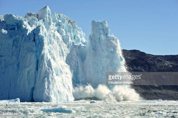 The Eqi Glacier which ends in the fiord 80 kilometers north of Ilulissat is very active in terms of calving making it a popular touristattraction The...