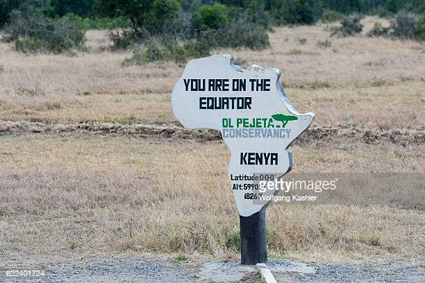 The Equator sign and marking in the Ol Pejeta Conservancy in Kenya