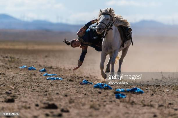 the equestrian technical performance - vertebrato foto e immagini stock