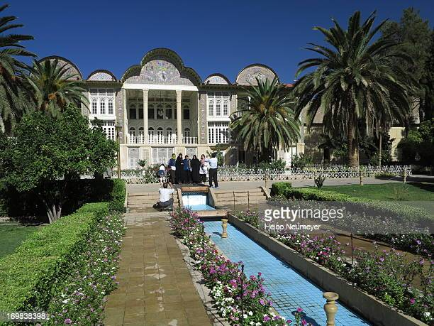 The Eram Garden is a typical Persian garden. This waterway leads towards historical Qavam house, the Garden's central building.