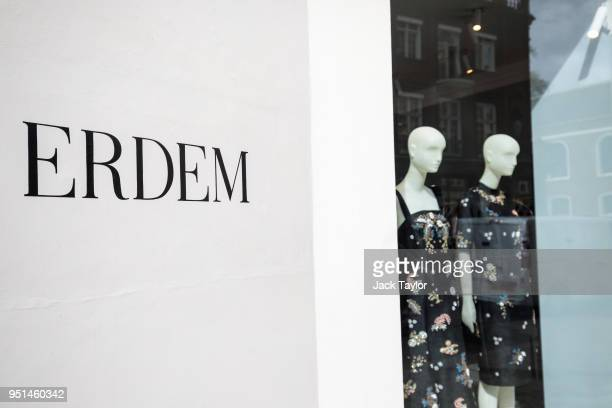 The Erdem store stands in Mayfair on April 26 2018 in London England The designer for Meghan Markle's wedding dress has yet to be announced ahead of...
