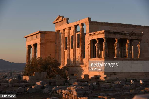 The Erechtheion on the north side of the Acropolis in Athens on August 26 2017