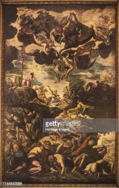 The Erection of the Brazen Serpent 1576 Found in the Collection of Scuola Grande di San Rocco Venezia Artist Tintoretto Jacopo
