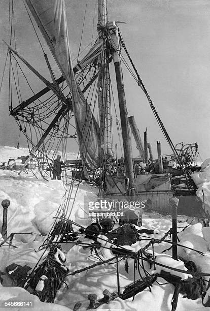 SHACKLETON'S 'ENDURANCE' The Ernest Shackleton's 'Endurance' heeled to port under the pressure of ice in the Weddell Sea of Antarctica 21 November...