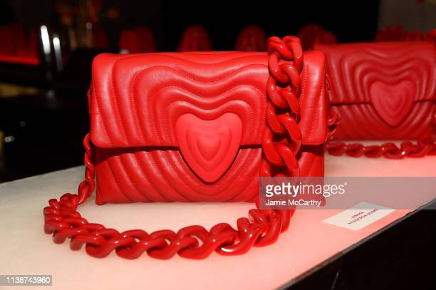The ESCADA Heartbag on display at the launch of the ESCADA Heartbag by Rita Ora on March 27 2019 in New York City