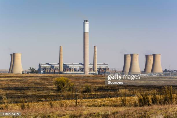 The Eskom Holdings SOC Ltd. Komati coal-fired power station stands in Mpumalanga, South Africa, on Wednesday, June 12, 2019. Air pollution in the...