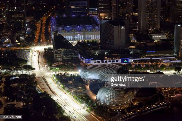 The Esplanade in Singapore by night