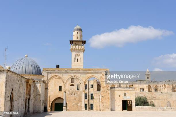 The esplanade of the Mosques in the Old City of Jerusalem on May 20 2014 in Jerusalem Israel