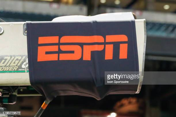 The ESPN logo on a camera before the Cheez-It Bowl college football game between the Air Force Falcons and the Washington State Cougars on December...