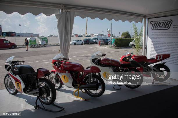 The esposition 'Le armi degli eroi' in paddock during the MotoGP of San Marino Previews at Misano World Circuit on September 6 2018 in Misano...