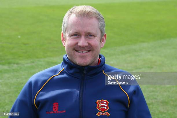 The Essex CCC Assistant Head coach Anthony McGrath poses for a portrait during the Essex CCC photocall at Cloudfm County Ground on April 5 2017 in...