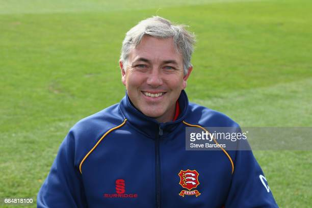 The Essex CCC Head coach Chris Silverwood poses for a portrait during the Essex CCC photocall at Cloudfm County Ground on April 5 2017 in Chelmsford...