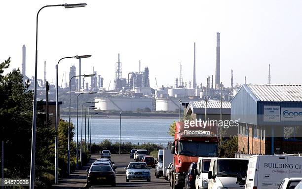 The Esso oil refinery at Fawley is viewed across Southampton water in Southampton UK on Friday Oct 19 2007 Crude oil breached $90 a barrel in New...