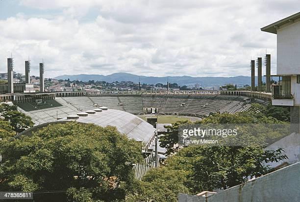 The Estadio Municipal Paulo Machado de Carvalho or Estadio do Pacaembu in Sao Paulo, Brazil, 1960.
