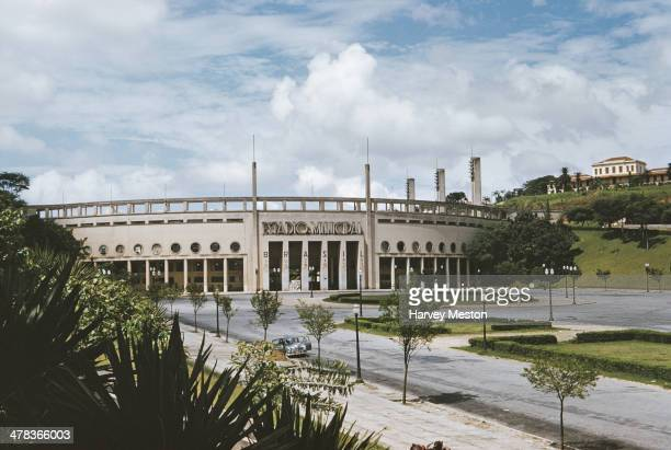 The Estadio Municipal Paulo Machado de Carvalho or Estadio do Pacaembu in Sao Paulo Brazil circa 1960