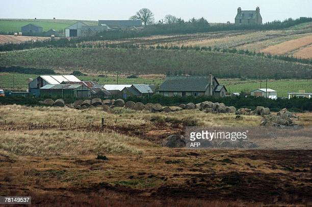 The estate of Scottish fisherman Michael Forbes is pictured near Balmedie, Aberdeenshire, in Scotland, 27 November 2007. Plans by US tycoon Donald...