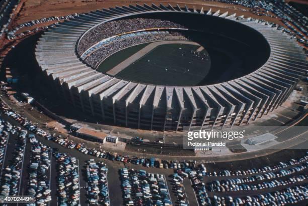 The Estádio Governador Magalhães Pinto, known as Mineirao, in Belo Horizonte, Minas Gerais, Brazil, circa 1970.