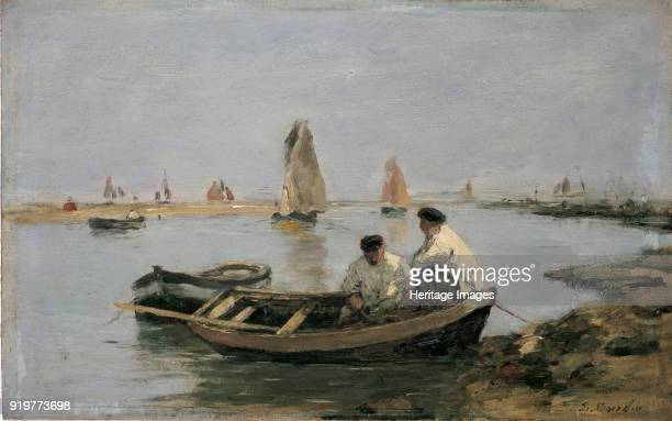 The Estuary mid 19th century Artist Eugene Louis Boudin