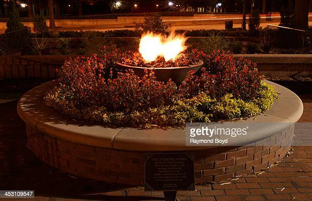 The Eternal Flame at the Martin Luther King Jr Center for Nonviolent Social Change in Atlanta Georgia on NOVEMBER 23 2013
