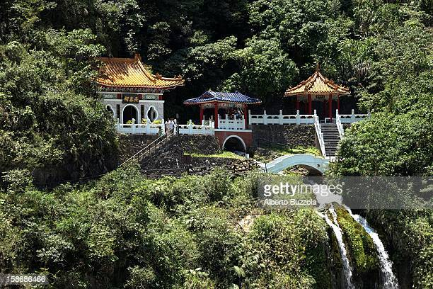The Eternal Spring Shrine perched over one of the gorges at Taroko National Park, the country's most visited spot. The creation of the park goes back...