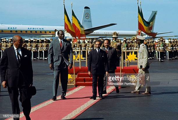 The Ethiopian Negus Haile Selassie I taking part in an official ceremony Addis Ababa 1966